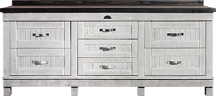 African Allure 7 Drawer Server