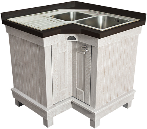 Corner Kitchen Sink Unit : African Allure Range of Free Standing Hand-made Kitchen Units