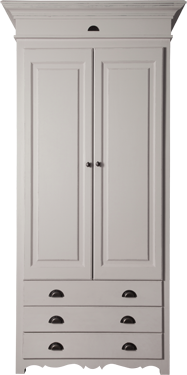 French Flair 2 Door Wardrobe Exterior