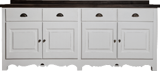 French Flair 4 Drawer Server with Cupboards
