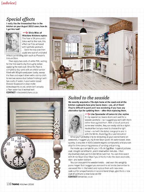 "So you like the ""limewashed"" floor effect? (Home Magazine, August 2016) DIY with some advice from yours truly"