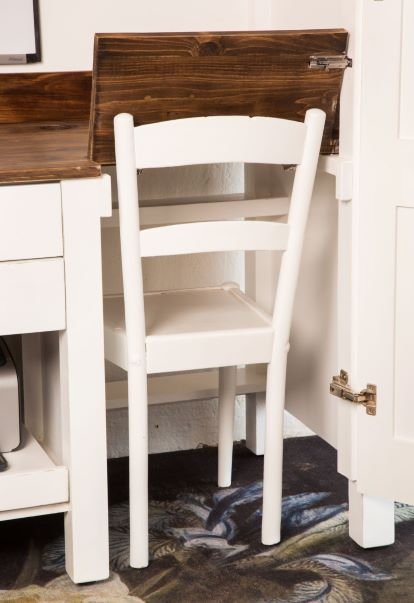 Office in a Cupboard - Chair fits in