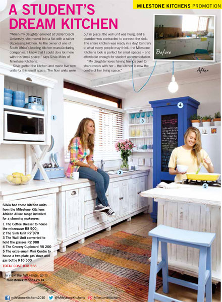 Milestone kitchens free standing hand made designer kitchen units in