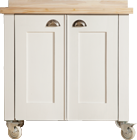 Swedish Style Double Door Unit with Blonde Top and Cup Handles