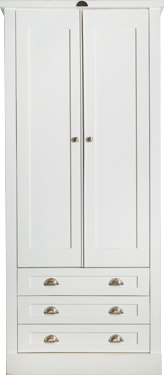 Swedish Style 2 Door Wardrobe Exterior