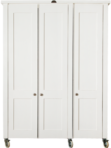 Swedish Style 3 Door Wardrobe Exterior