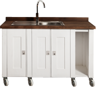 Swedish Style Sink Unit with Space for Trays