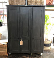 SWEDISH STYLE Deluxe Grocery & Broom Cupboard in Annie Sloan black