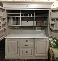 Swedish Style Kitchen in a Cupboard with Caesar stone top