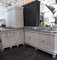 African Allure The Milestone Kitchen L Shaped Unit