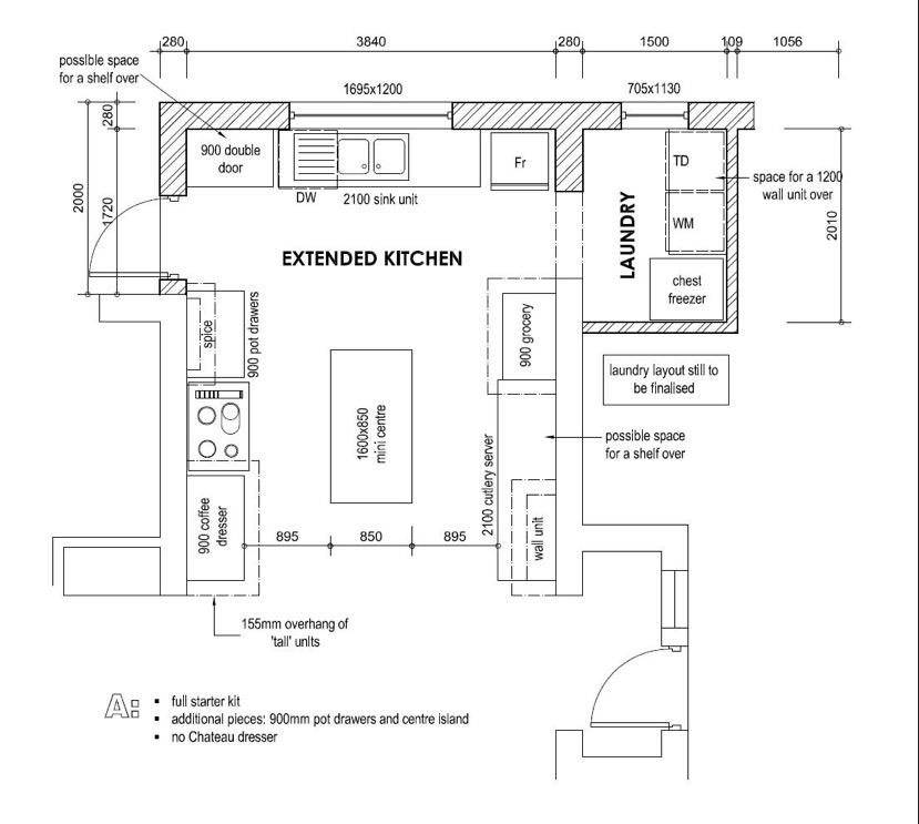 Downloadable kitchen layout planner south africa for Planning a kitchen layout